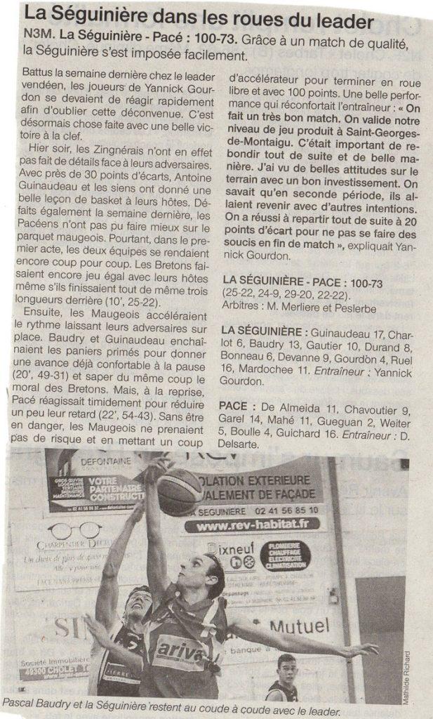 La Seg Basket - Pacé